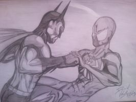 Batman vs. Spider-Man by D-Architect