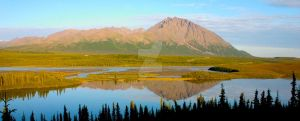 A mountains reflection, Denali Highway by iamintheprocess