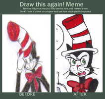 Old vs. New: Cat in the Hat by KessieLou