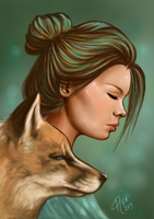 A Fox and His Girl by RayEllie
