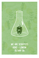 We Are Scientists Poster by Euskera
