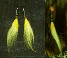 Dog Fur Earrings by Wolftrest