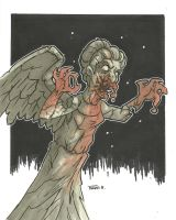 WEEPING ANGEL ZOMBIE VARIANT by leagueof1