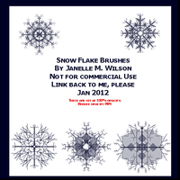 Snow Flake Brushes 010212 by WeisseEdelweiss