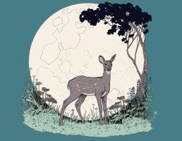 Woodland Moonlight by thewildforlorn