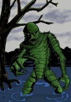 Creature From The Black Lagoon by kirstgrafx