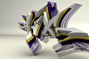 hex - 3d graffiti by UrbanCalligraphism