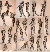 March Gestures Male and Female by GoblinQueeen