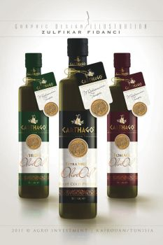 Label design for Carthago Oliveoil by byZED