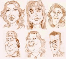 Gilmore Girls caricatures by Gegenschein17