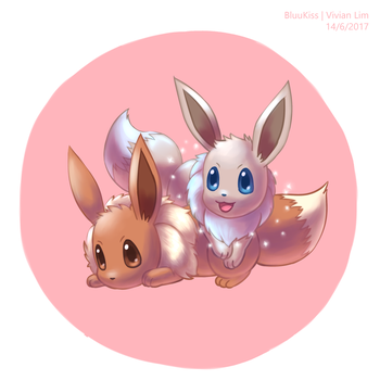 Eevee Twin v2 by BluuKiss