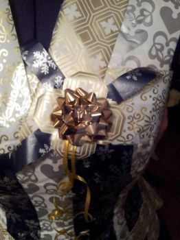 Project Sewing Mannequin gift-wrapping part 7 by Psycho-Panda