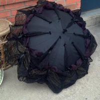 Gothic Neo Victorian Lace Trimmed Parasol Umbrella by CyberFreakedd