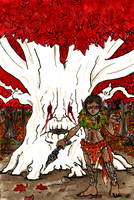 Weirwood Guardian by Rather-Drawn