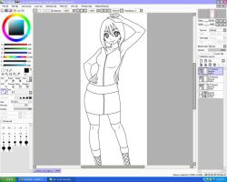 WIP of my new Fairy Tail OC by Chocolate-x-Roses