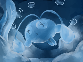 Boring Chinchou painting by AliceBlueMudkip