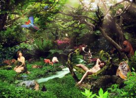 Garden of Eden by Amosha