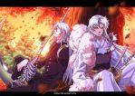 Sesshomaru and  undertaker crossover by xong