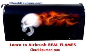 Real Flames and Skull by crb1177