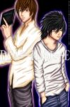 L and Light yagami by razzmatazztwink