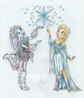Wintergreen by Abbey and Elsa by Anastasia1995art