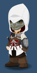 When Ezio borrowed Corvo's mask... by CharonTheShadow