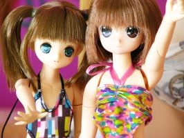 Sayuri and Ayu Swimsuits by animagic4u