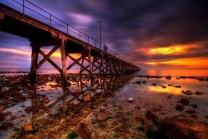 Sunset Jetty by Kounelli1