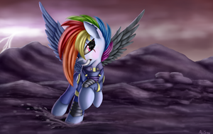 Battle Rainbow Dash by Pony-Stark
