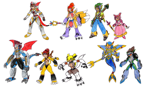 Digitized Tamers by MegaloRex