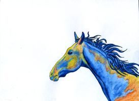 Watercolor Horse by Tanias-Reign