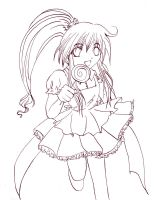 Lineart: Lolly by canal