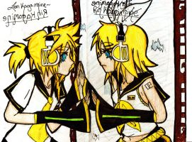Reflected Tears - Rin and Len by GuidingTwilight