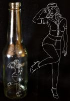Hello Sailor Engraved Bottle by FireFlyExposed