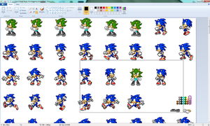 Progress on Vandys Sprite Sheet by CrystalTheRenahog