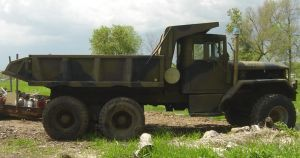US Military Army Dump Truck by FantasyStock