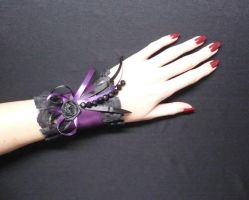 Loli purple WRIST CUFF by Estylissimo