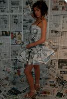 newspaper dress4 by CharlotteHemingway