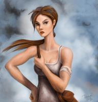 Lara Croft undaunted. by tampico