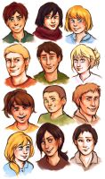 Shingeki headshots by pebbled