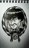 2nd Doctor: warm-up art by rori