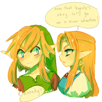 LoZ -- LET'S GO by onisuu