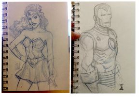 Wonder Woman and Iron Man by hyperjack08
