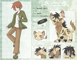 DW: Tanner Hall and Hyenamon by SilverHyena