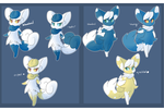 Meowstic variations by rah742