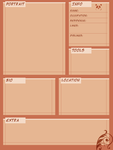 City of Elzig Character Sheet Template by hnkkorgris