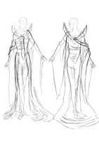 Clothing Sketch Empress by Mlle-Tenebrist
