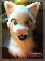 [fursuit] Ryukaza the Tiger's complete head! by Frosted-Monster