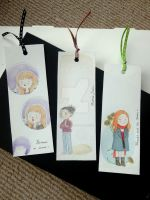 Doctor Who companions bookmarks by Feliks-Grell