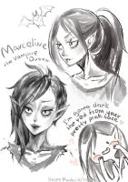 Marceline the Vampire Queen sketch by happy-mashiro